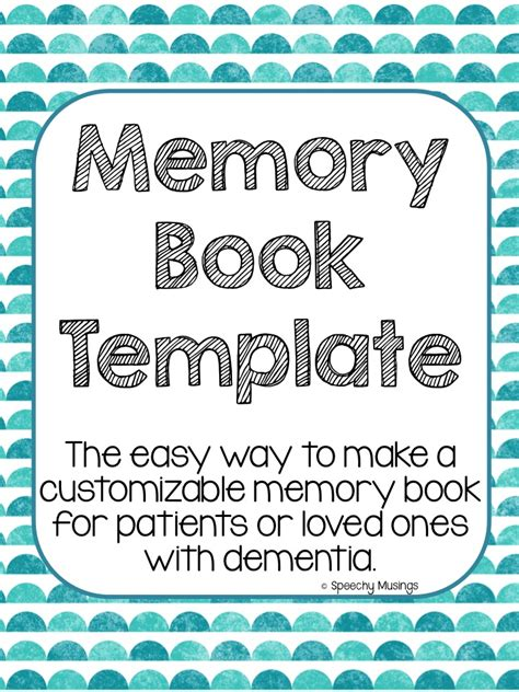 Memory And Orientation Books Speechy Musings Free Printable Memory Book Templates
