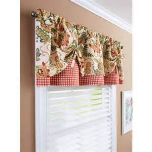 Better Homes And Gardens Kitchen Curtains Better Homes And Gardens Gingham And Blooms Valance Walmart