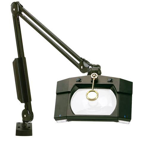 Illuminated Magnifier Table L by Wide View Illuminated Magnifier 1 75x Magnification Table Cl Black From Cole Parmer