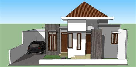 sketsa sederhana rumah minimalis 3