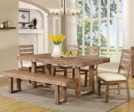 Dining Room Bench Table Dining Room Exciting Rustic Dining Room Table Set With
