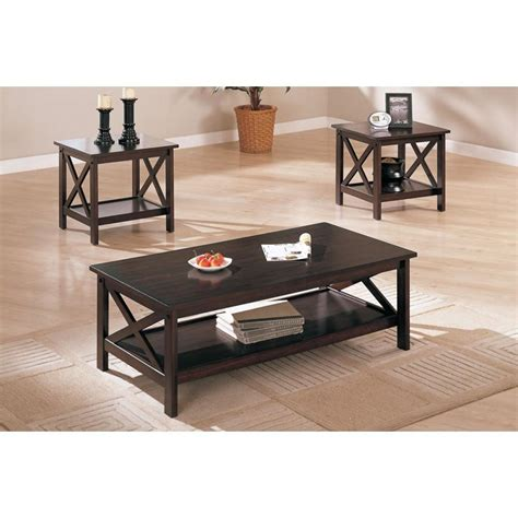 poundex f3069 3 pcs coffee table set quinn s collection