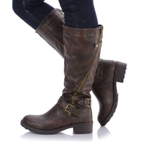 leather knee high boots ebay