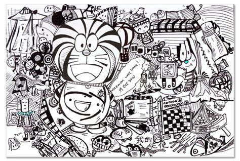 doodle name doraemon collage sketch all started with doraemon simin aka