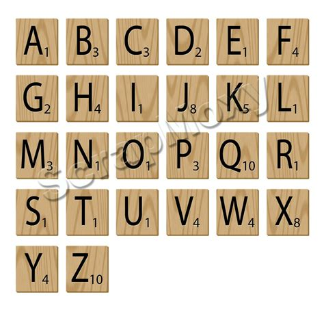 Letters In Scrabble Scrabble Alphabet Letters For Scrapbooking In Photoshop