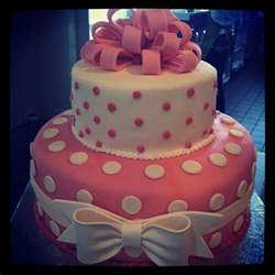 pink and white polkadot fondant cake cake decorating