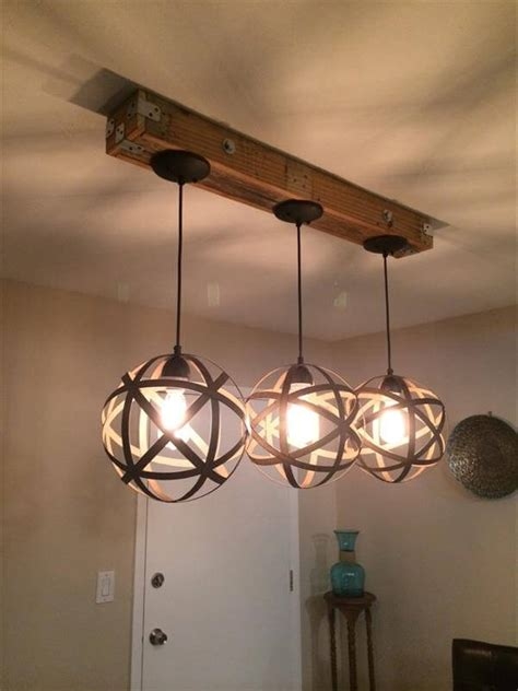 Light And Fixtures Diy Pallet And Jar Light Fixture 101 Pallets