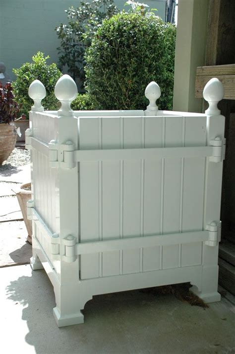 Wooden Versailles Planters by Versailles Planters Opening Sides Helpful For Replacing