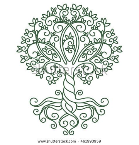 decor element vector illustration mandala tree stock