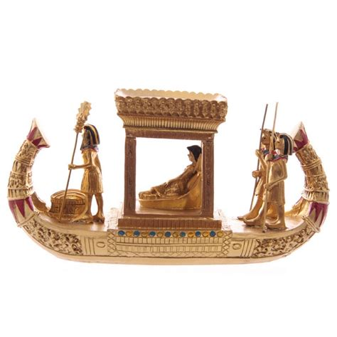 egyptian soul boat decorative gold egyptian canopy boat