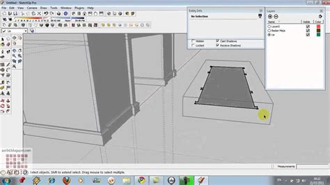 my hobbies me google sketchup google sketchup tutorial 03 follow me dan layer meja