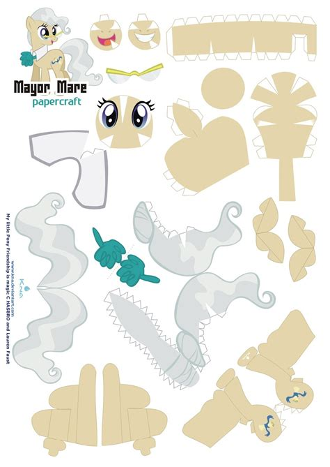 Papercraft Pattern - mayor mare papercraft pattern by kna on deviantart