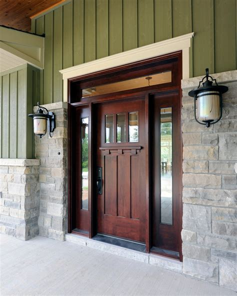 Green Exterior Door Outswing Exterior Door Entry Craftsman With Entry Front Door Front Entrance Green Exterior