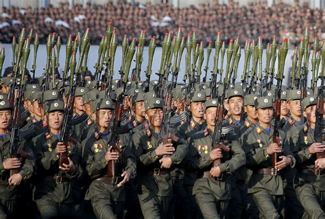 north korea troops mass in pyongyang show of strength at defencetalk