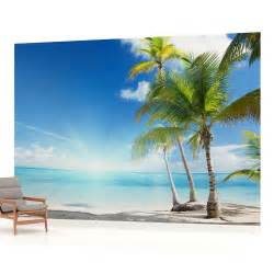 Beach Wall Mural Beach Sea Sand Tropical Landscape Photo Wallpaper Wall