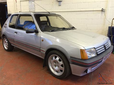 peugeot silver 1988 peugeot 205 gti 1900 1 9 silver 99 000 miles 3 owners