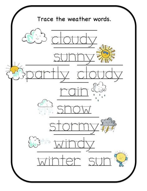 preschool printables weather pre k weather pinterest