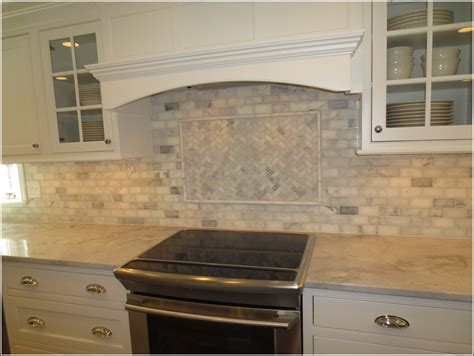 Subway Kitchen Backsplash Marble Subway Tile Backsplash Kitchen Tiles Home