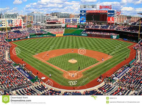 Baseball In Washington baseball day washington nationals editorial stock