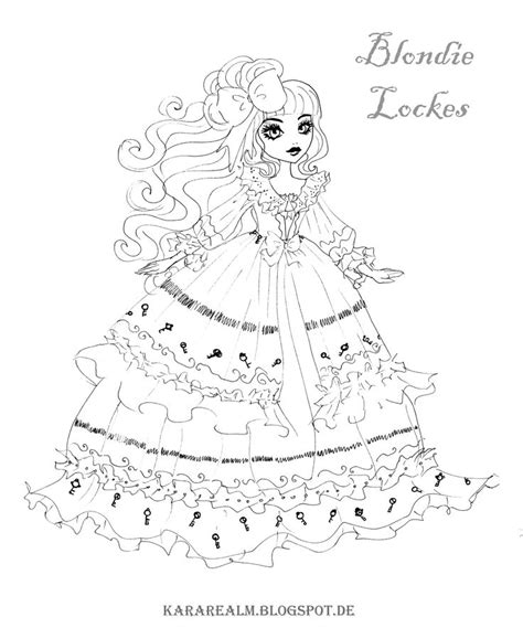 ever after high coloring pages cards ever after high coloring pages blondie locks printable