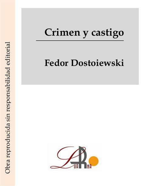 crimen y castigo crimen y castigo
