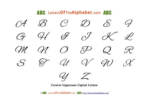 printable cursive letters uppercase and lowercase cursive alphabet letters tag lettersofthealphabet com
