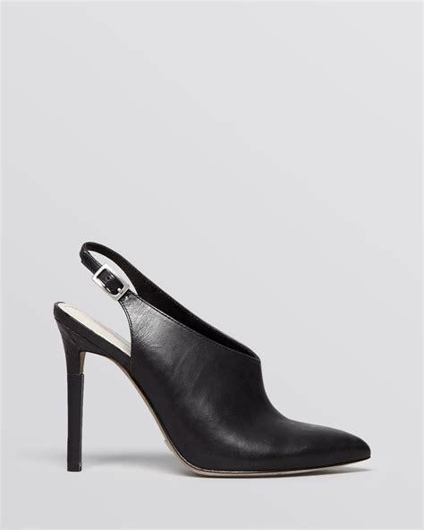 black high heel mules pour la victoire pointed toe slingback mules zen high heel