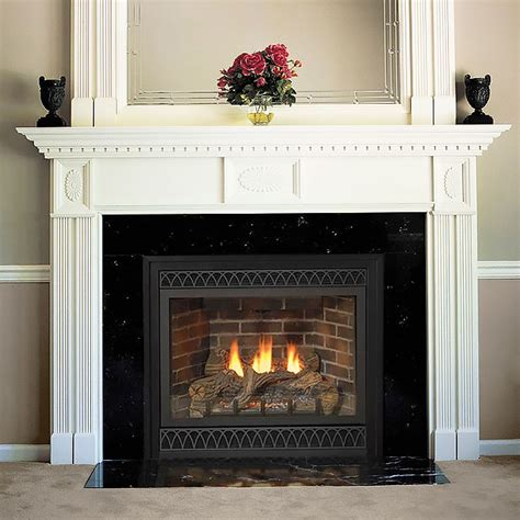 Wooden Fireplace Surround by Farmington 58 In X 42 In Wood Fireplace Mantel Surround