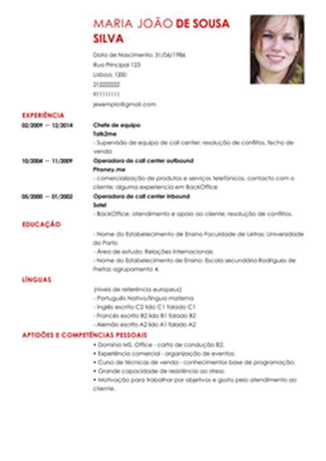 Modelo Europeu Curriculum Vitae Em Inglês Modelo De Curriculum Vitae Em Portugues Modelo De Curriculum Vitae