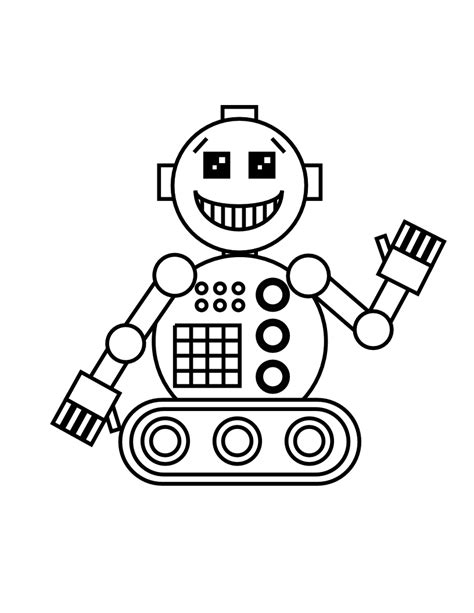 Robot Coloring Pages To Print Barriee Robot Colouring Pages