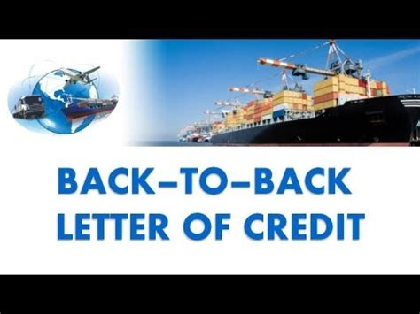 Back To Bank Letter Of Credit Back To Back Letter Of Credit Part Iii