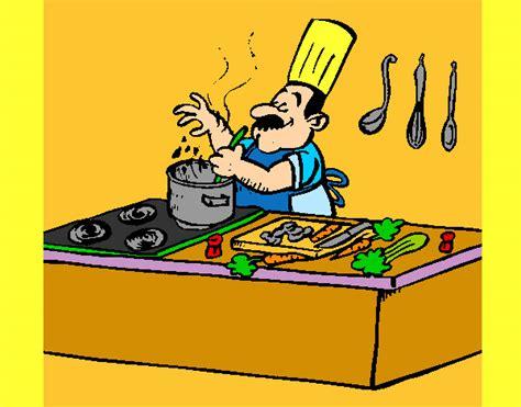 cuoco in cucina disegno cuoco in cucina colorato da gaiac il 23 di
