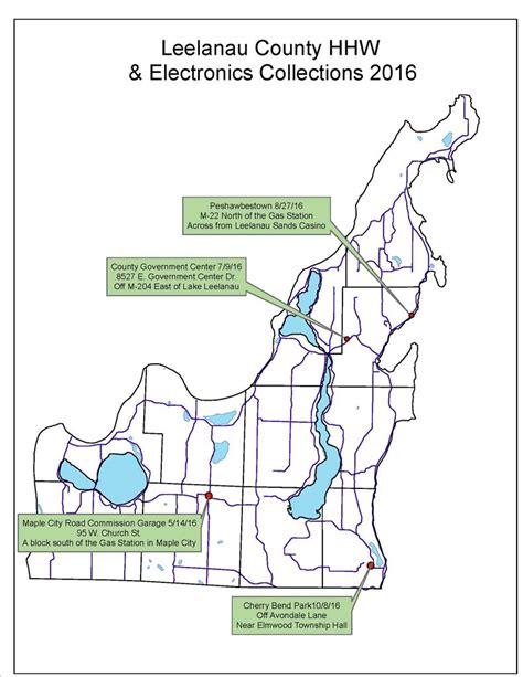 Leelanau County Property Records Last Household Hazardous Waste Electronics Collection For 2016 October 8