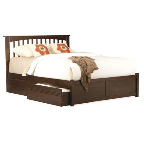 brooklyn bed atlantic furniture brooklyn platform bed w trundle in
