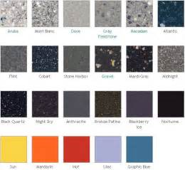 Corian Colour Chart Corian Color Chart Artificial 100 Acrylic Solid