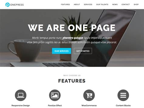 design is one online 30 best free one page wordpress themes 2018 athemes