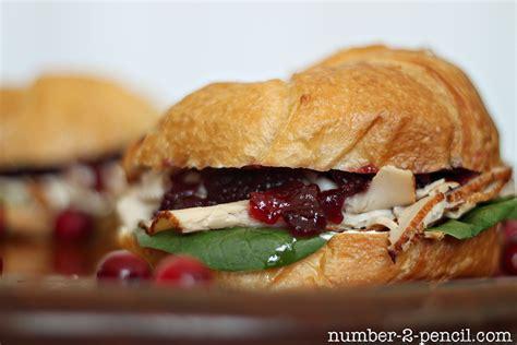 cranberry turkey sandwich no 2 pencil