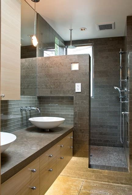 a modern and cozy family home contemporary bathroom