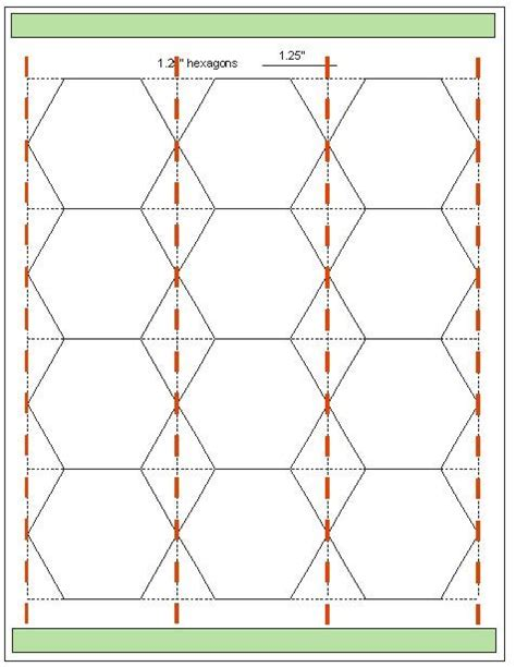 hexagon templates for paper piecing hexagon templates in various sizes hexagons