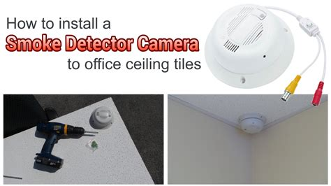 how to install a hidden camera in your bathroom how to install a hidden smoke detector security camera