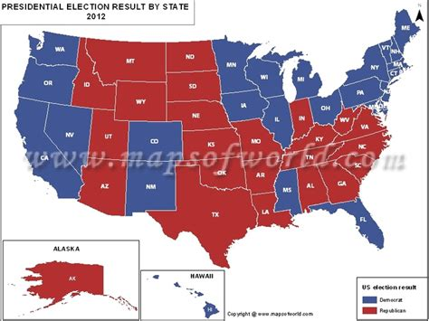us map of presidential election results usa map of 2012 presidential electionresults by united