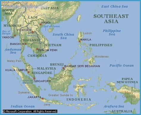 map of se asia se asia travel map travelsfinders