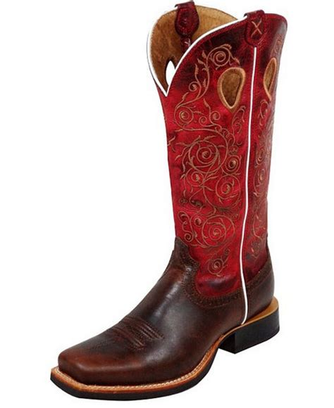 twisted x western boots womens leather cowboy ruff stock