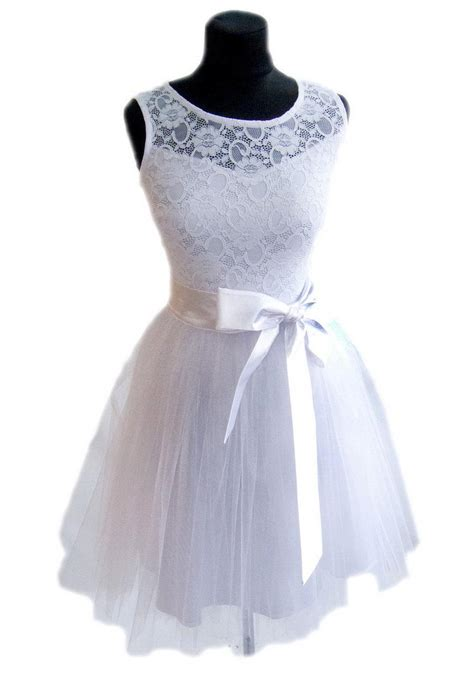 Informal White Wedding Dresses by Wedding Dress White Tulle Lace Dress Bridesmaid Formal