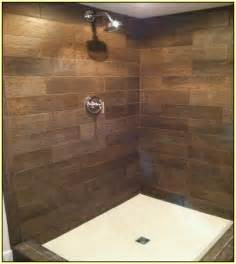 wood look ceramic tile shower home design ideas