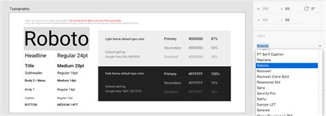 material design font roboto adobe xd and material design mark dubois weblog