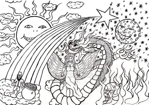 9 Drawings On Acid by Acid Trip Coloring Pages Coloring Pages