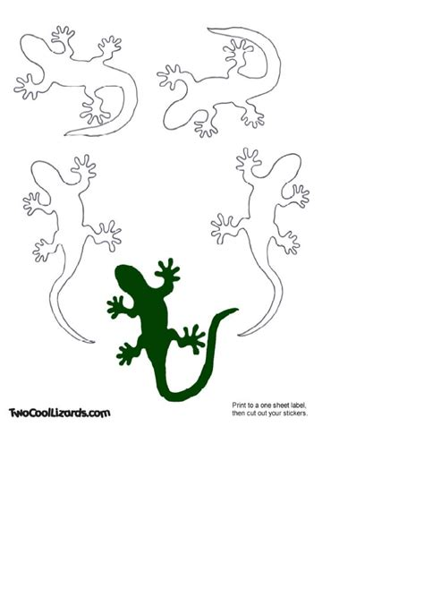 lizard template lizard template for colouring cutting out tracing