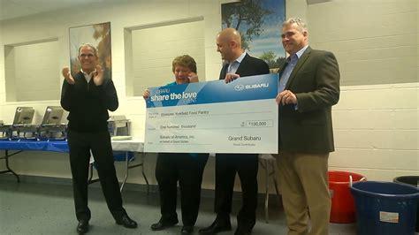 grand subaru donation to elmhurst yorkfield food pantry