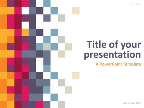 free abstract powerpoint templates free abstract pixel powerpoint template abstract